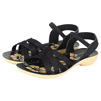 902fdc0a5 Camfoot Women s Black-983 Fashion Sandals  Amazon.in  Shoes   Handbags