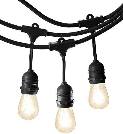Amazonbasics weatherproof outdoor patio string lights s14 bulb amazonbasics weatherproof outdoor patio string lights s14 bulb black 48 workwithnaturefo