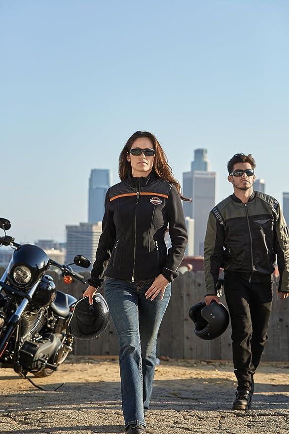Schwarz Grün Harley-Davidson Men/'s Mainstreet Nylon Bomber Jacke Gr M Herren