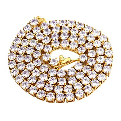 Rhinestone Round Cut Cubic Zirconia Tennis 18K Gold Plated Fashion Bracelet