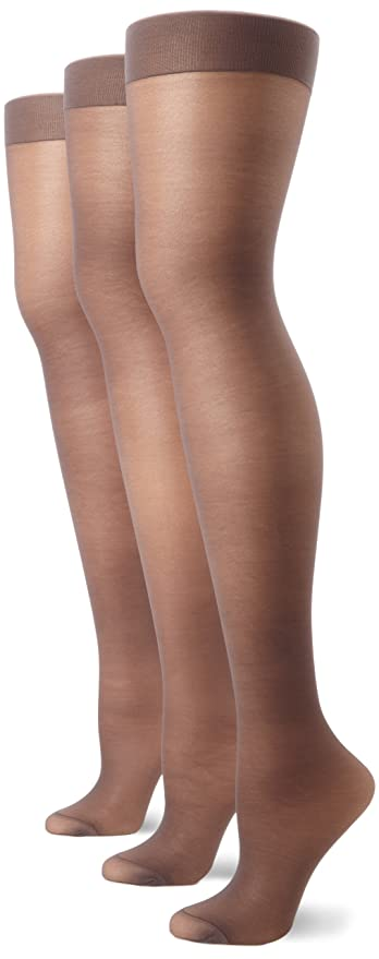 99d932a91be Hanes Silk Reflections Women s Full Support Control Top Pantyhose (3 Pair)  at Amazon Women s Clothing store  Hanes Alive