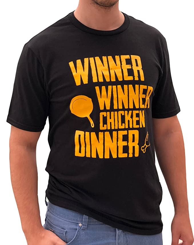 f9a1a949f Amazon.com: LeRage Shirts Winner Winner Chicken Dinner PUBG Shirt Funny  Gamer Tee Men's: Clothing
