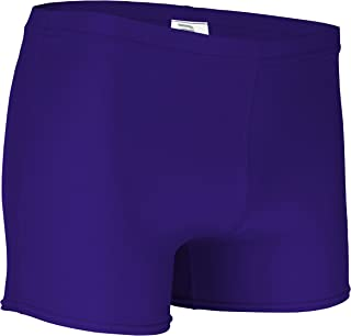 """product image for NL-203-CB Women's 4"""" Solid Athletic Form Fit Volleyball Compression Sport Short (Medium, Purple)"""