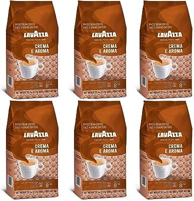Lavazza Crema e Aroma, Café en Grano, Pack de 6, 6 x 1000g: Amazon.es: Alimentación y bebidas