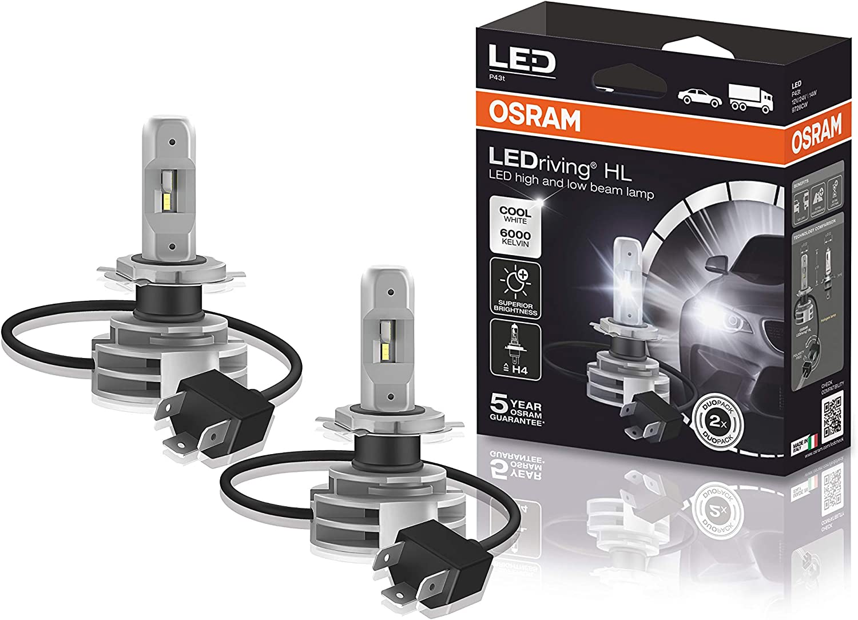 Osram LEDriving HL, Off-road ≙ H4, 12/24V, Retrofits, lámparas LED de luz de carretera y de cruce, 9726CW, caja plegable (1 unidad), Blanco Frío