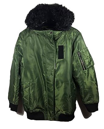 Zara, las mujeres de largo con capucha Bomber chaqueta 5071/241 ...