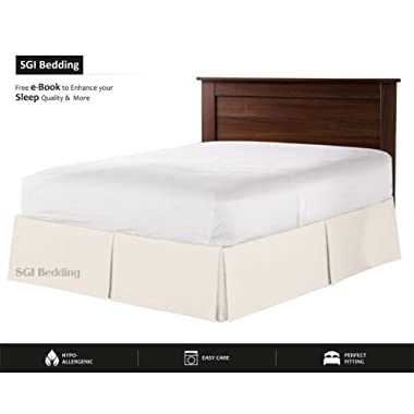 18  drop bed skirt queen 600 TC Egyptian cotton Bedding Queen (60X80 ) Ivory Solid