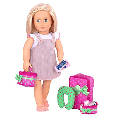 "Our Generation by Battat- Luggage & Travel Set For 18"" Dolls- Toys, Clothes & Accessories For Ages 3 Years Old & Up: Toys & Games"