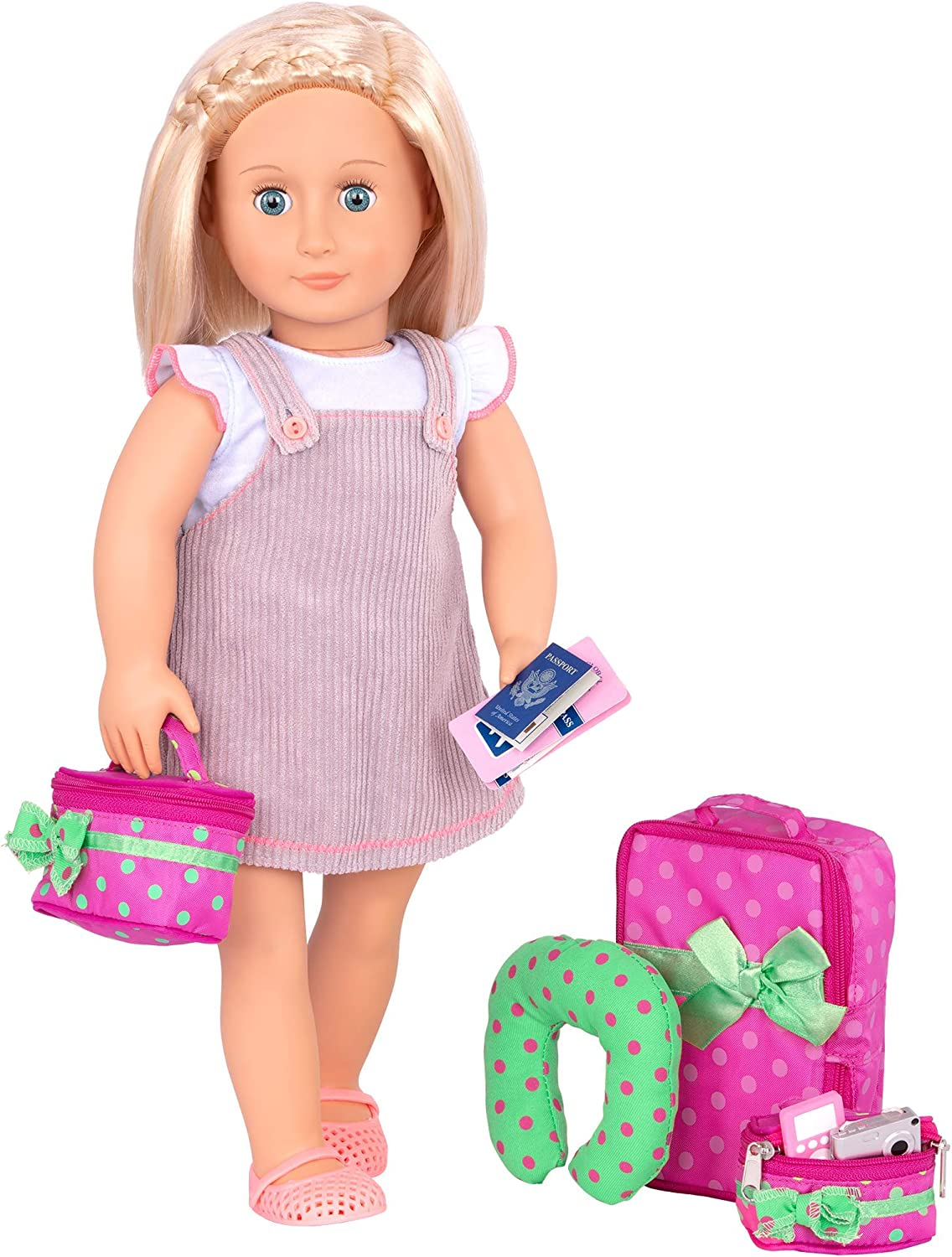 "Our Generation by Battat- Luggage & Travel Set For 18"" Dolls- Toys, Clothes & Accessories For Ages 3 Years Old & Up"