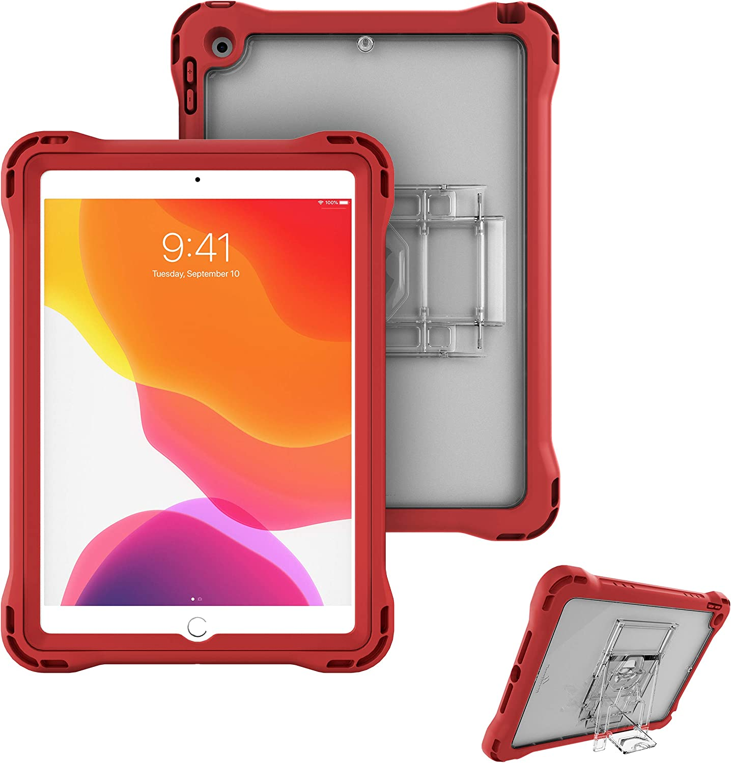 Brenthaven Edge 360 Case Designed for The New Apple iPad 10.2 7th and 8th Gen (2020) for School and Office Use - Durable, Rugged Protection with Stand and Screen Shield (Pen Holder Sold Separately)