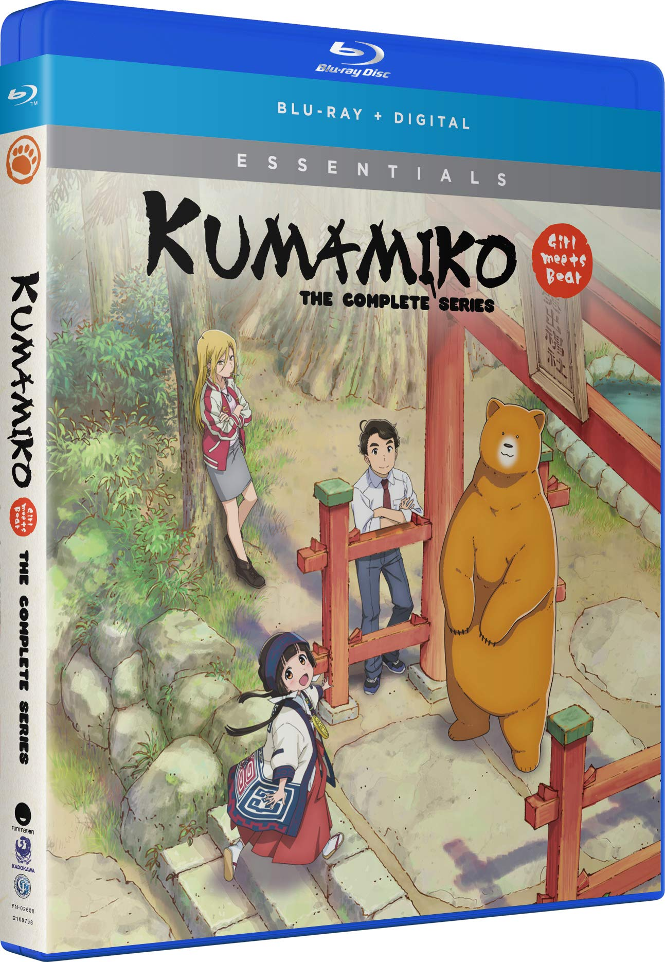 Blu-ray : Kuma Miko: The Complete Series (Subtitled, Digital Copy, 2 Pack)