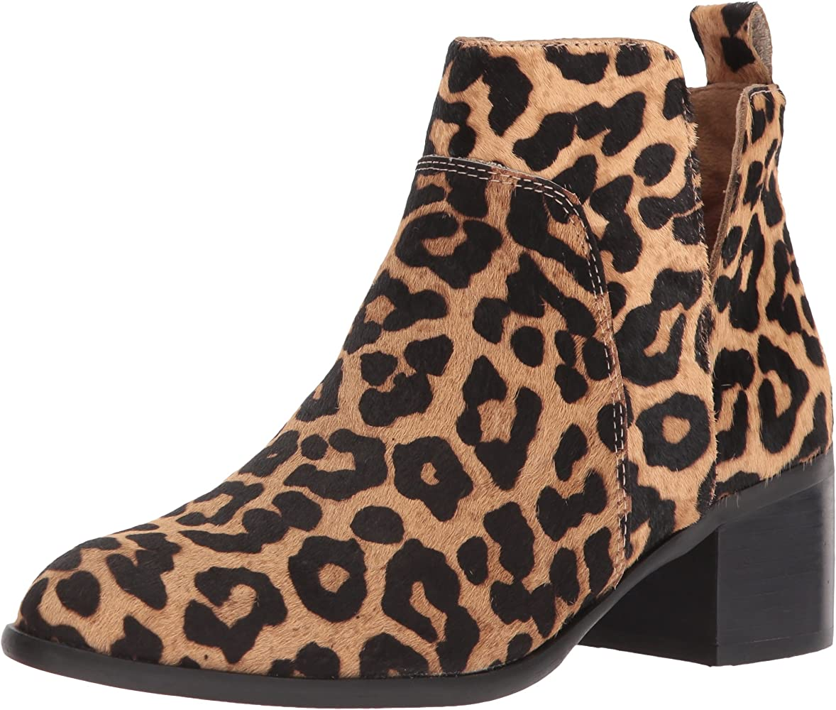 franco sarto reeve ankle booties leopard