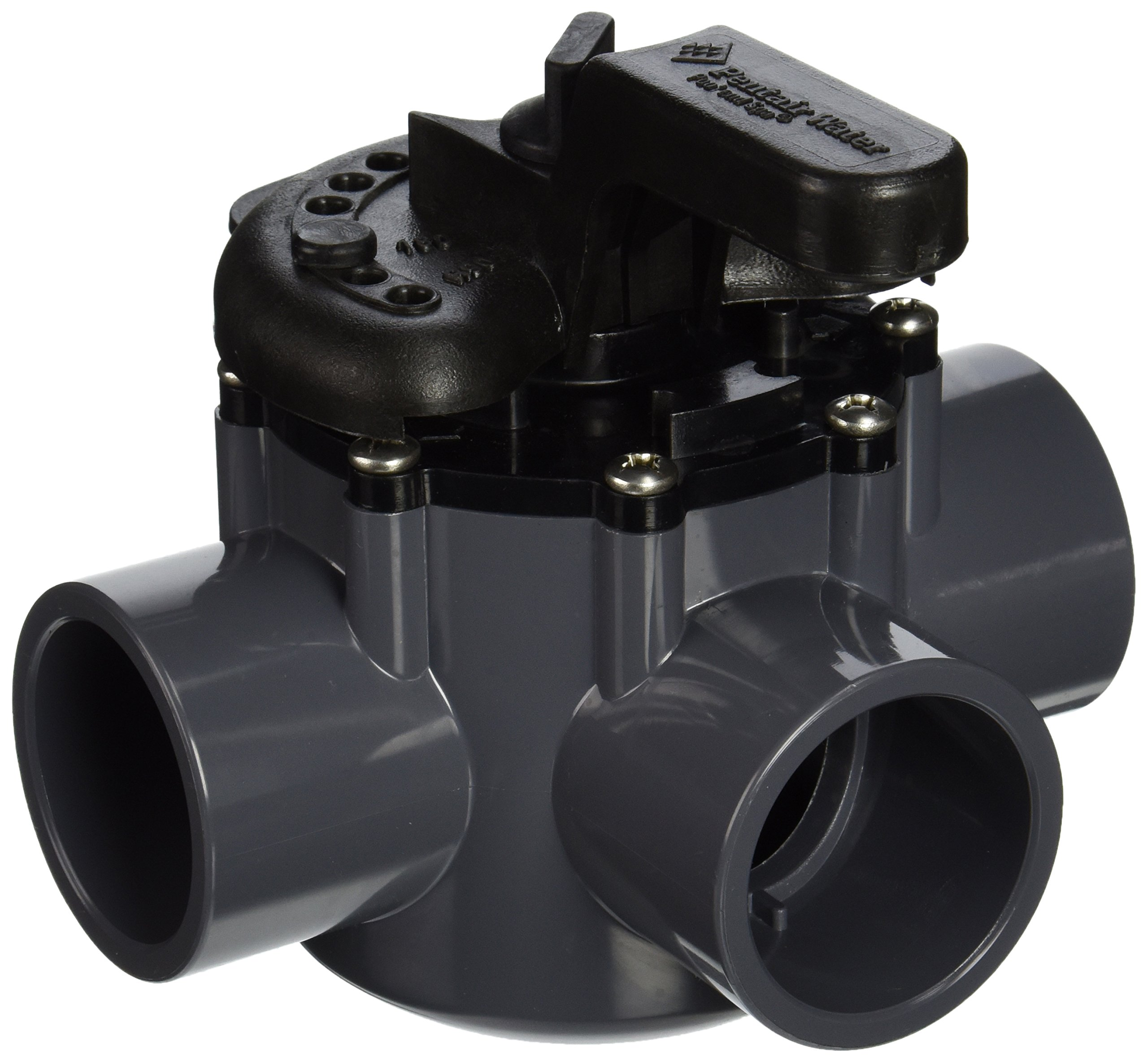 Pentair 263036 Diverter Valve 2-Way 1-1/2-Inch (2-Inch slip Outside), CPVC by Pentair