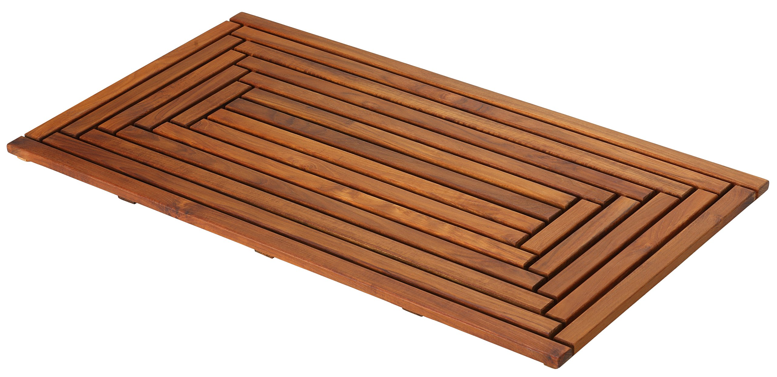 Bare Decor Giza Shower, Spa, Door Mat in Solid Teak Wood and Oiled Finish 35.5'' x 19.75'' by Bare Decor (Image #2)