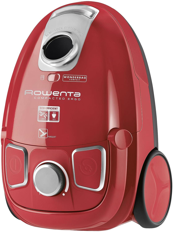 Rowenta Aspirador con Bolsa RO5253EA Ergo Rojo, 750 W, 83 Decibelios