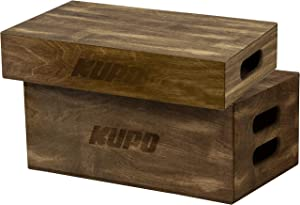KUPO Brown Stained Apple Box Set - Half and Full Size (KG037912)