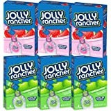 Jolly Rancher Singles To Go Drink Mix -- 36 Singles Packs, Sugar Free (3 Boxes of Green Apple Singles, 3 Boxes of Watermelon Singles)