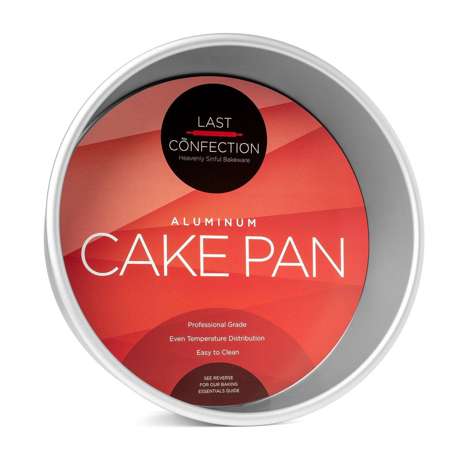 Last Confection Professional Bakeware - 9'' x 3'' Deep Round Aluminum Cake Pan