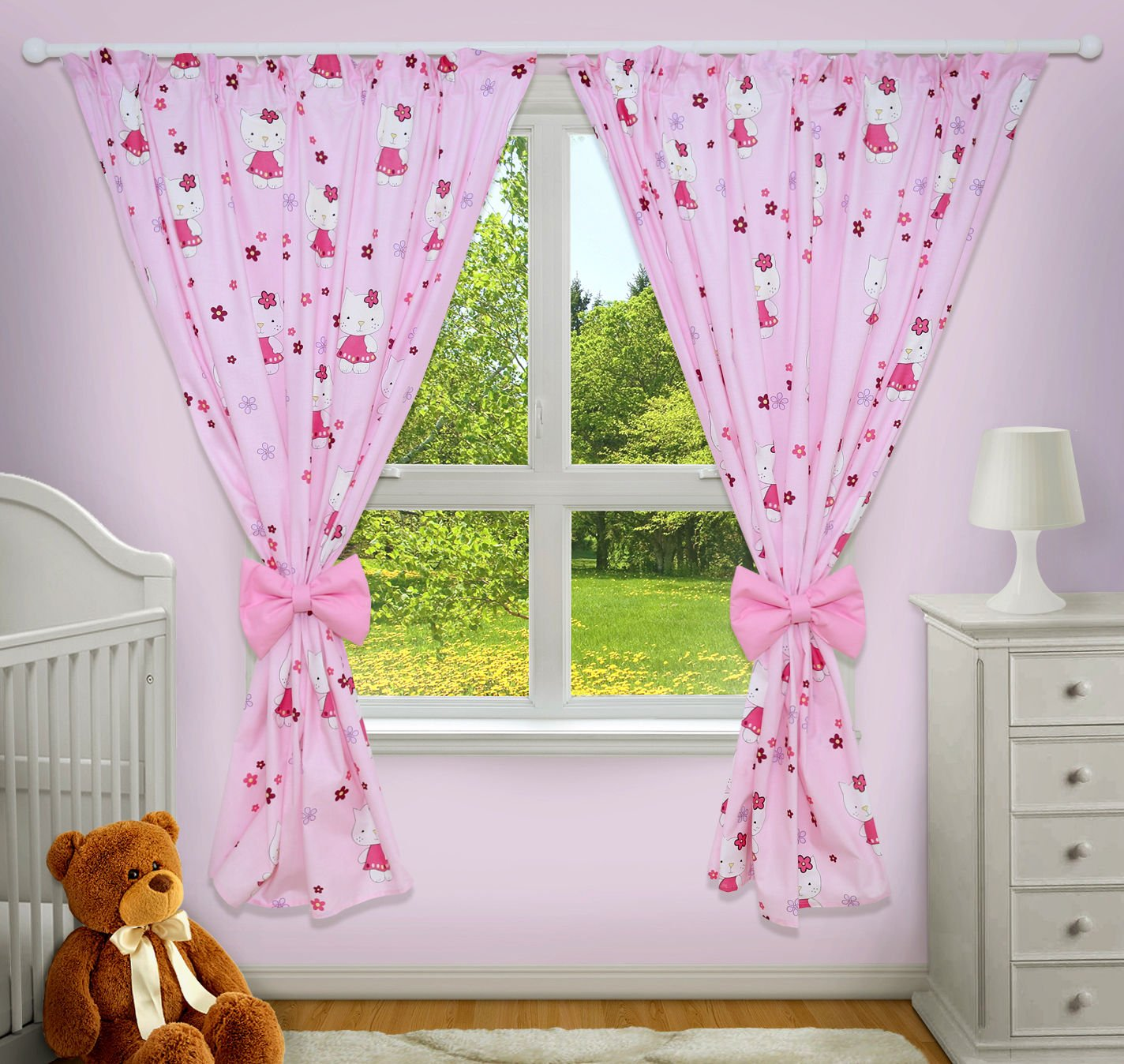 LUXURY DECORATIVE CURTAINS FOR BABY ROOM MATCHING WITH OUR NURSERY BEDDING SETS (Big stars grey) TheLittles24
