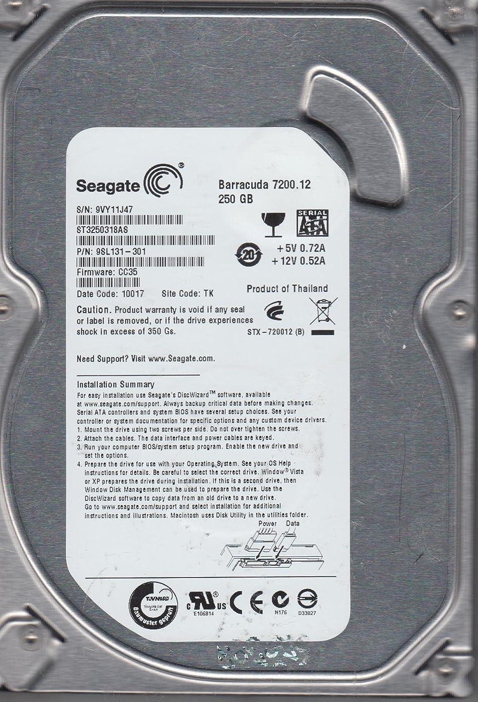 ST3250318AS, 9VY, TK, PN 9SL131-301, FW CC35, Seagate 250GB SATA 3 5
