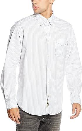 M C S Camisa Hombre Blanco Roto L: Amazon.es: Ropa y accesorios