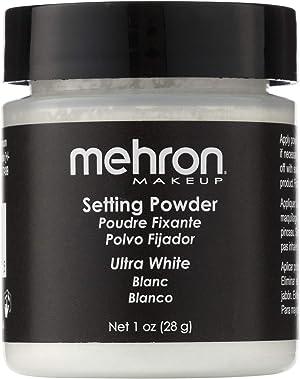 Mehron Makeup Setting Powder (1 oz) (Ultra White)