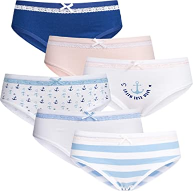6 Mädchen Slips Hipster Baumwolle Panties Unterhosen Kinder Unterwäsche Pantys