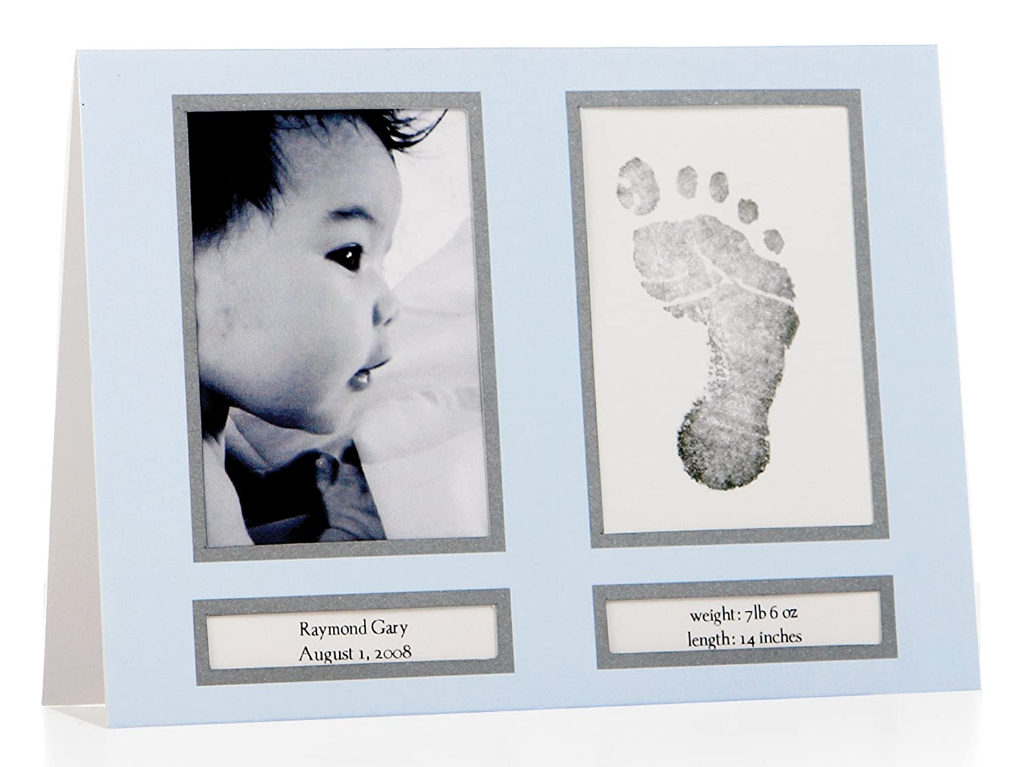 Pearhead 60010 - Babyprints Birth Announcement - Geburtskarten blau