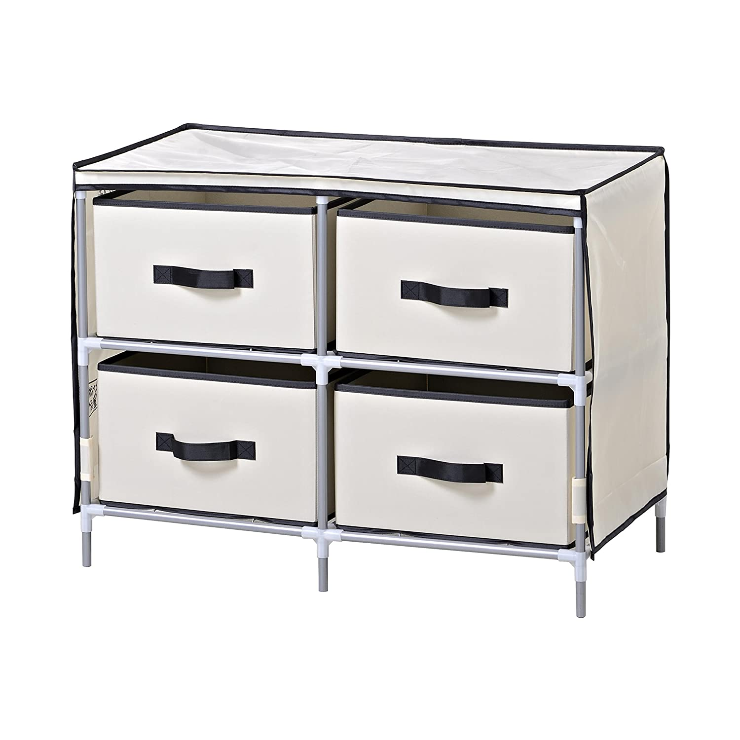 Homestar ZH141796BE 4-Drawer Fabric Dresser