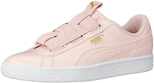 zapatilla puma basket mujer rosa