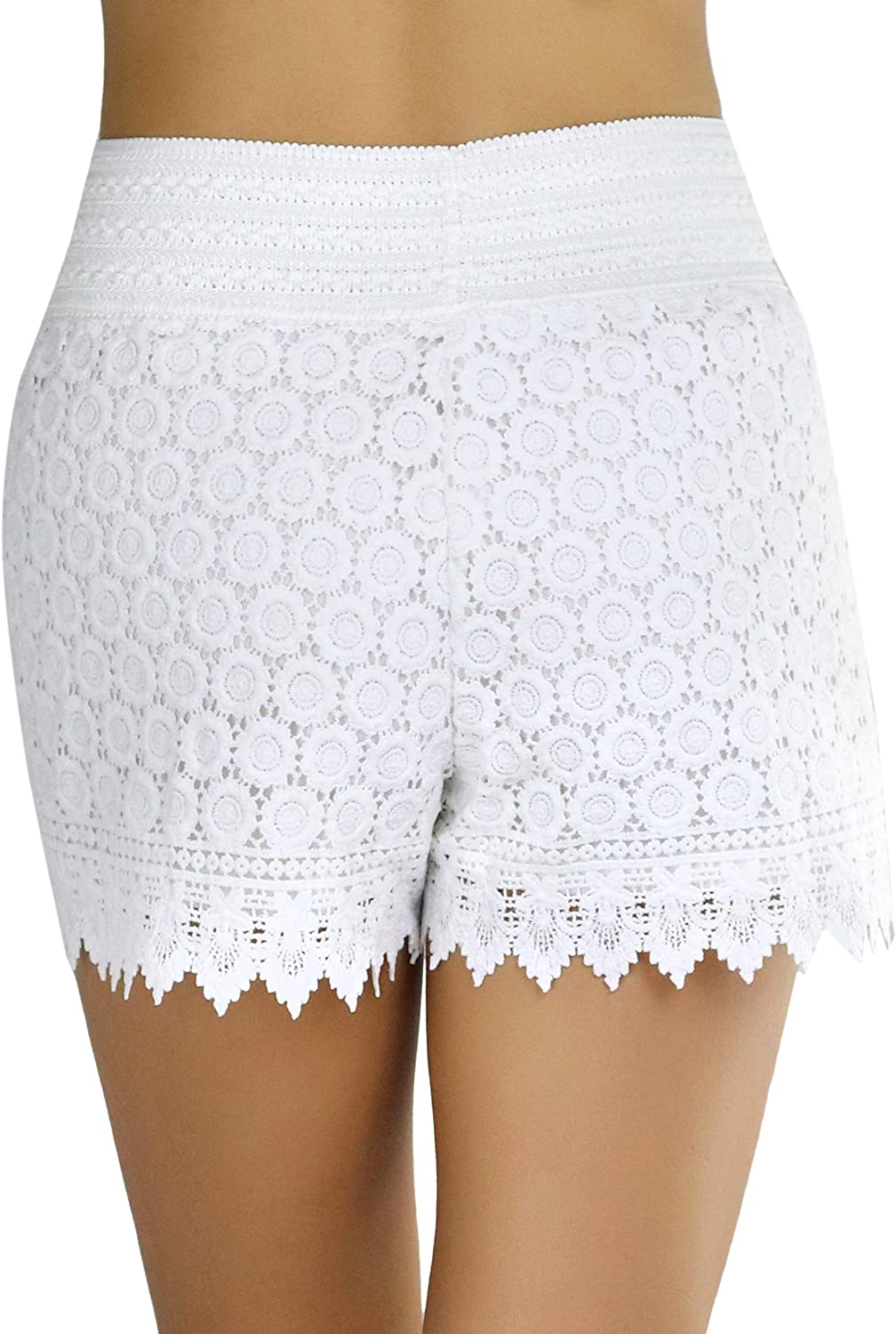 ToBeInStyle Womens Lace Shorts