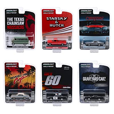 Hollywood Series Release 27, Set of 6 Pieces 1/64 Diecast Model Cars by Greenlight 44870: Toys & Games