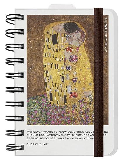 Legami AG121863 - Agenda 2018 espiral diaria, 12 meses, diseño Klimt