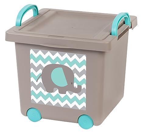 Superbe IRIS Baby Toy Storage Box, 4 Pack, Gray