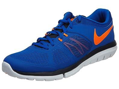 Nike Flex 2014 Run MSL Men Laufschuhe lyn blue-total orange-dark obsidian-