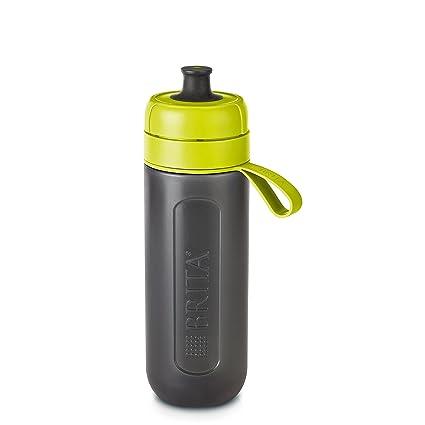 BRITA Fill&Go Active - Botella de agua filtrada reutilizable de 0,6 l con 1. Pasa ...