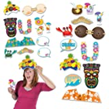 Beistle Luau Photo Fun Signs, 51/4 by 181/4-Inch, Multicolor