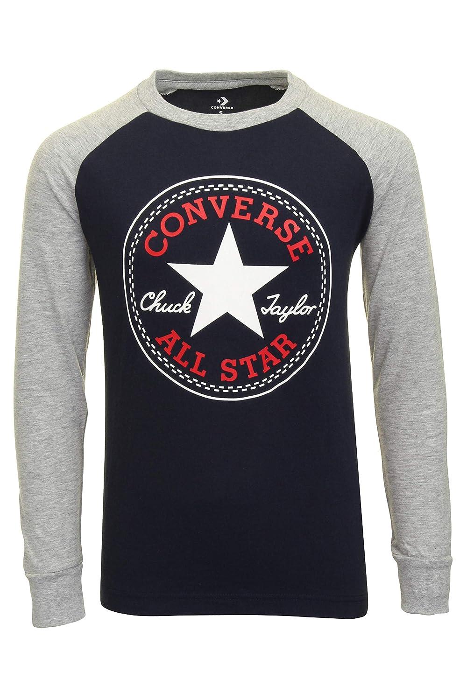 Converse Kids Boys Chuck Patch Long Sleeve Raglan (Big Kids ...