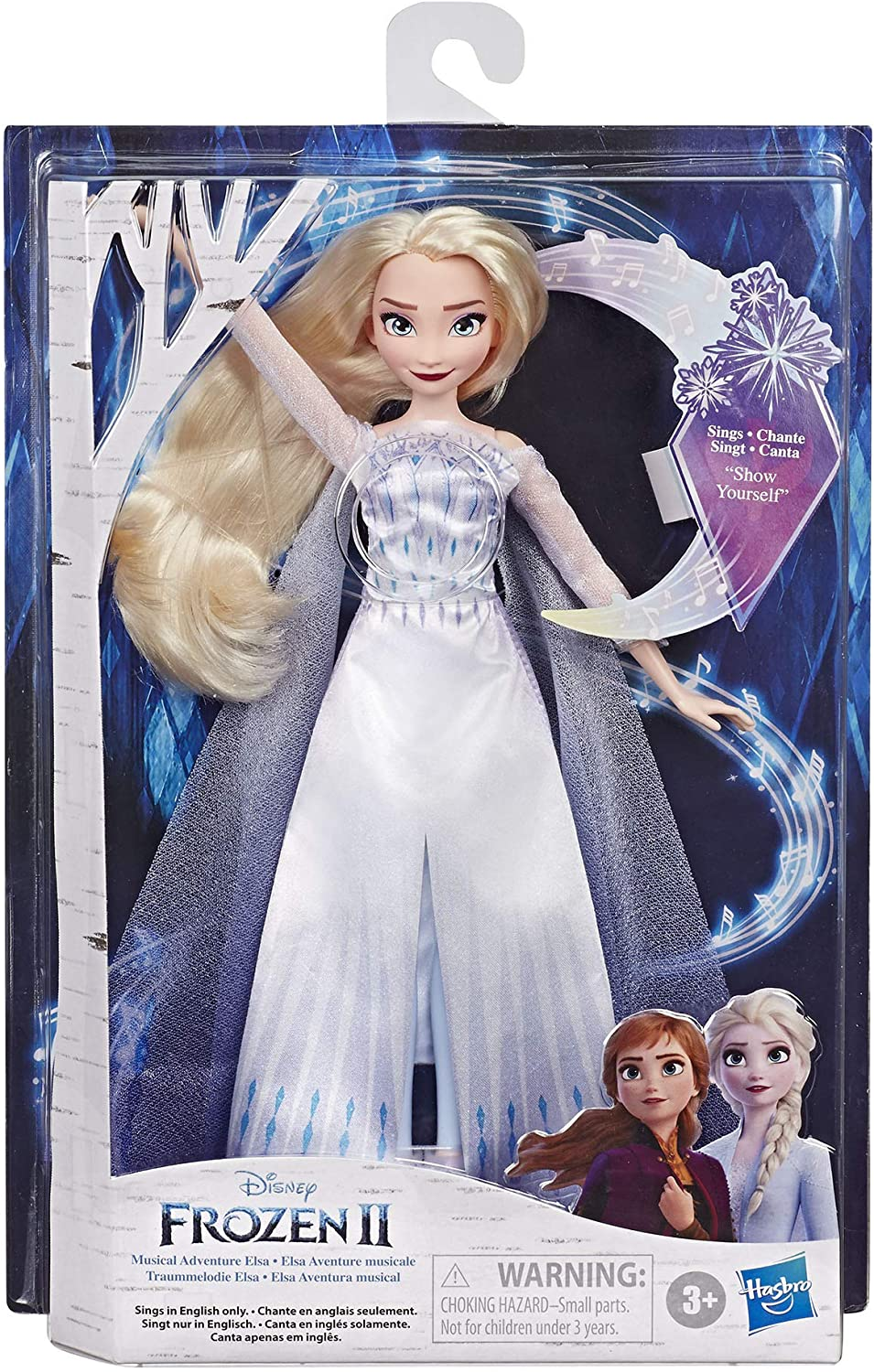 Disney Frozen 2 Elsa, Bambola cantante (Musical Adventure Canta la Canzone Some Things Never Change dal Film Disney Frozen 2)
