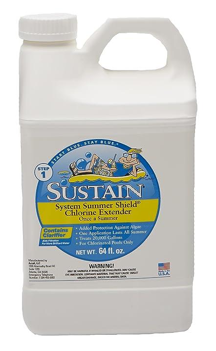 Amazon.com : Sustain Summer Shield Chlorine Extender (1, Half ...