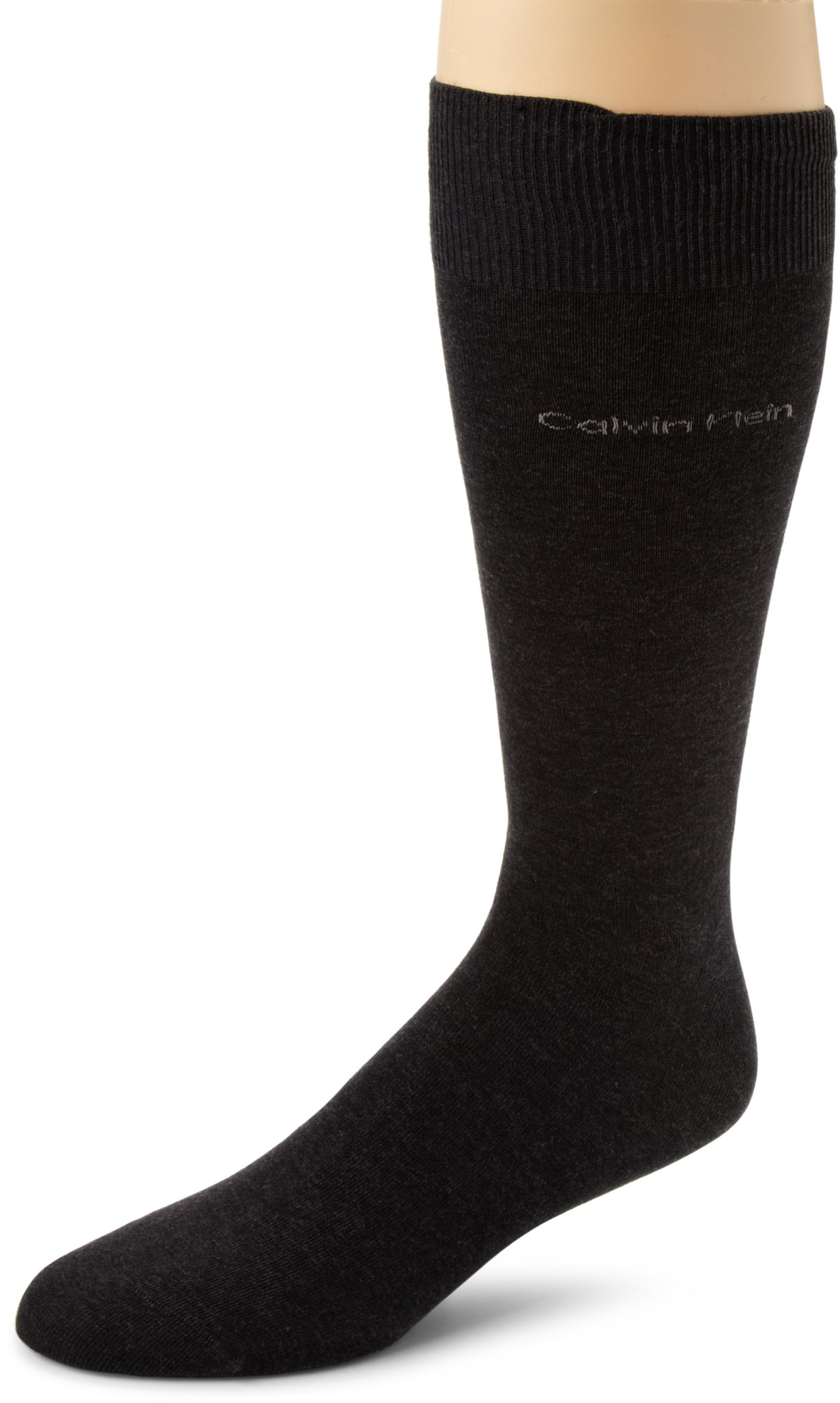 Calvin Klein Men's Egyptian Cotton Dress Socks,Graphite Heather,Shoe Size 7-12 by Calvin Klein (Image #1)