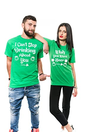 008083f64 Silk Road Tees St Patricks Day Couple Matching Shirts Drinking Party  Paddy's Day Unisex Green Shirts. Roll over image to ...