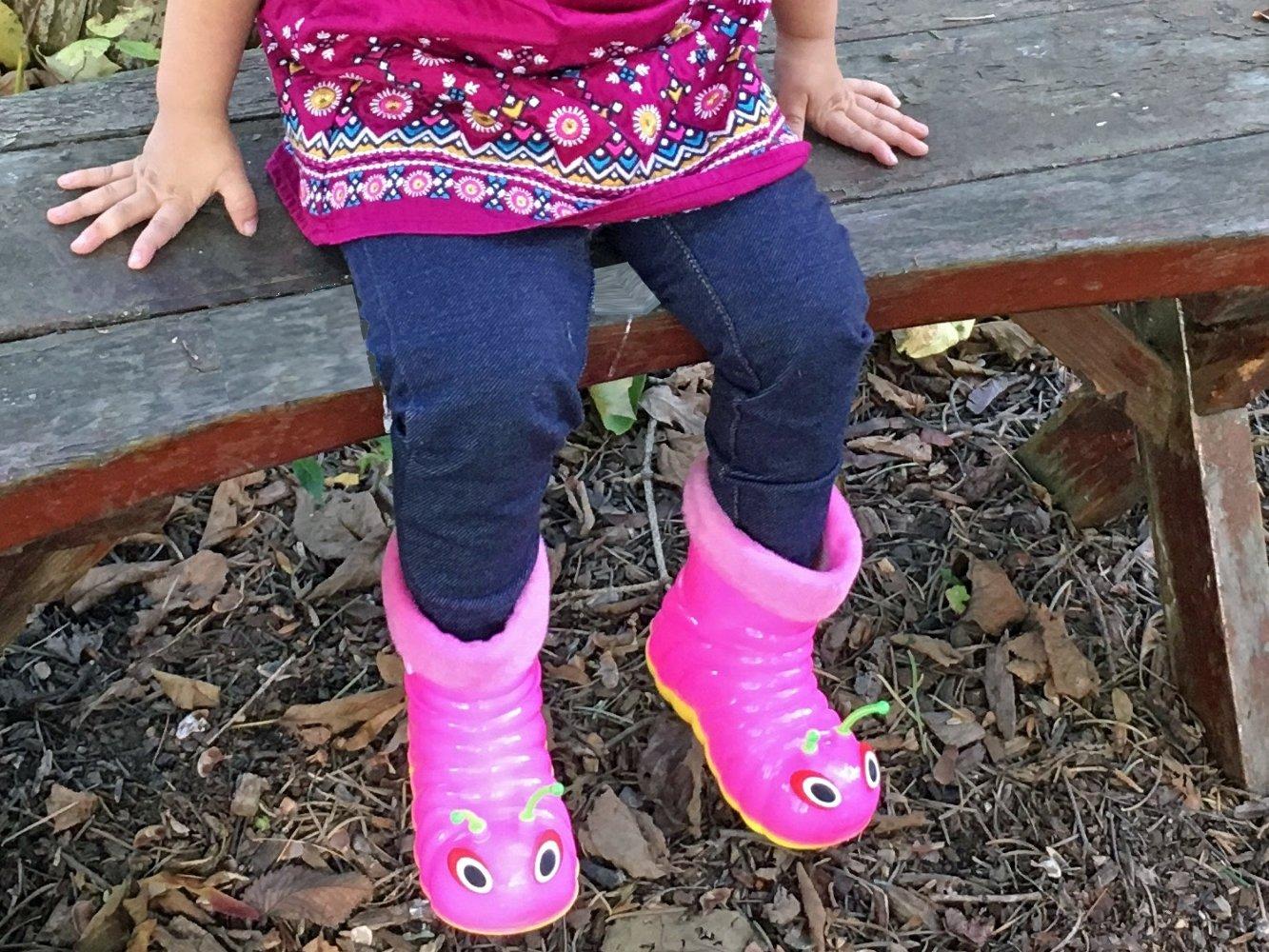 Children's Waterproof Rain Boots Cartoon Animals Toddler/Little Kid (28 (10 M US Toddler), Pink) by Beastie Shoes (Image #6)