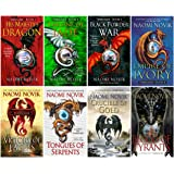 Books 1-8 in Naomi Novik's Temeraire Series (His Majesty's Dragon,Throne of Jade, Black Powder War, Empire of Ivory…