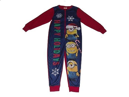 dec4748957 MINIONS - Pijama de una pieza - para niño navy   red  Amazon.es ...