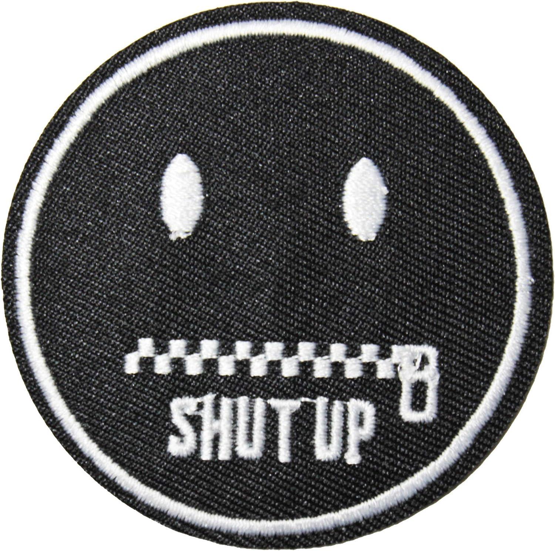 Finger Lips U-Sky 3pcs Shut up Design Iron on Patches Clothing Sew On Appliques Cloth Patch for Jeans Jackets Vest Uniform Costume