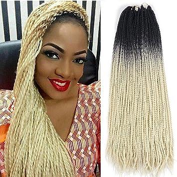 Amazon Com Ombre Senegalese Twist 2x Kanekalon Synthetic Crochet