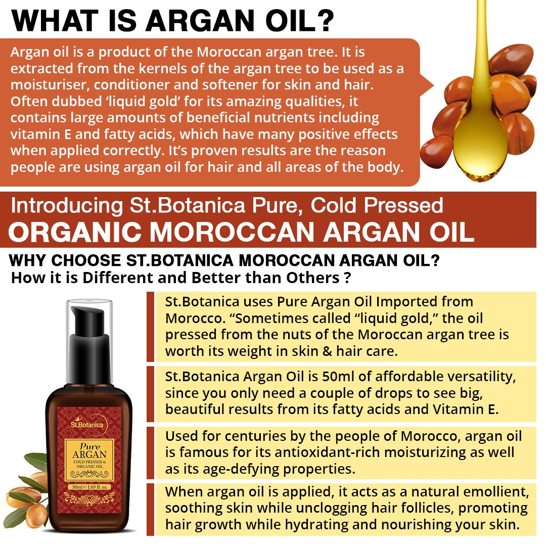 Stbotanica organic pure argan oil 50ml for hair skin usda stbotanica organic pure argan oil 50ml for hair skin usda certified ingredient imported from morocco amazon health personal care fandeluxe Choice Image