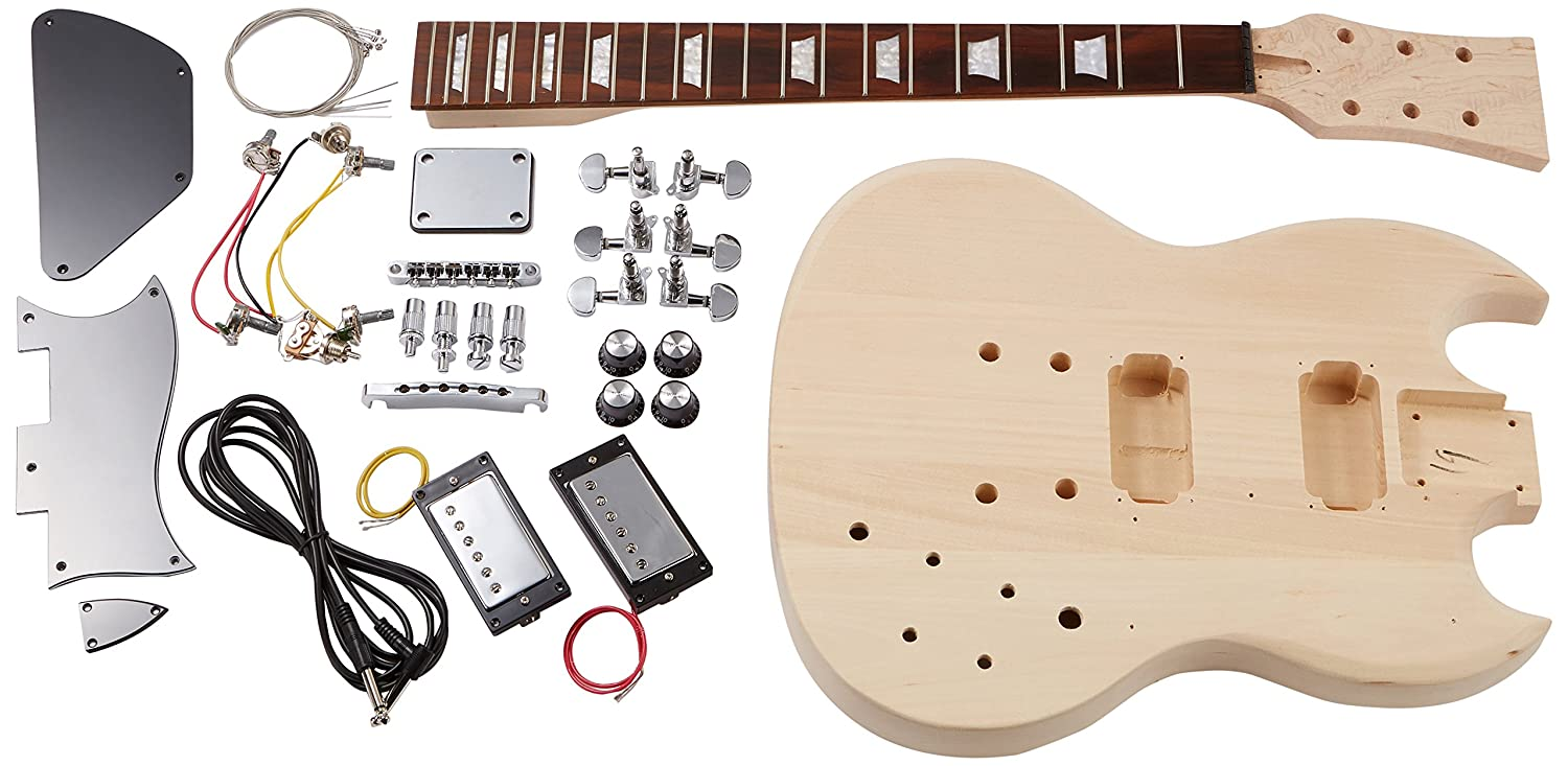 Rocktile Electric Guitar Double-Cut Style Building Kit 00038310