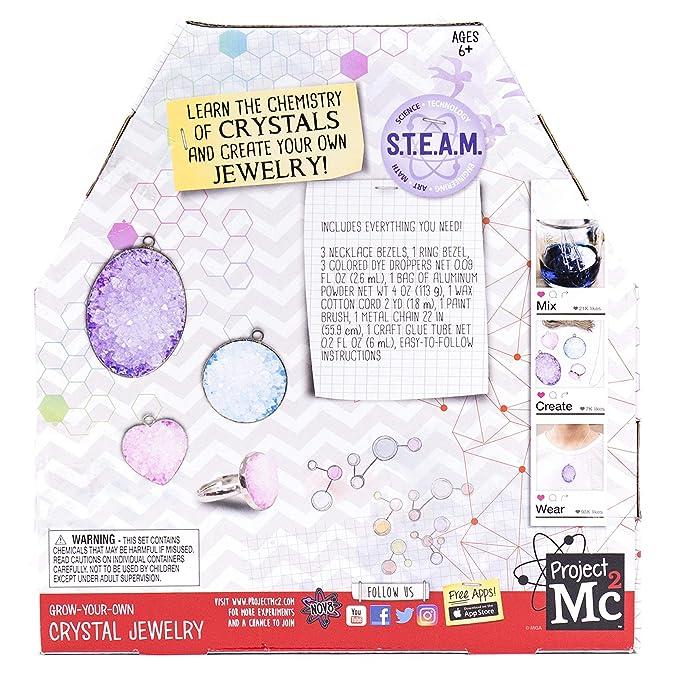 Amazon com: Project Mc2 Grow Your Own Crystal Jewelry Stem Science